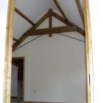 Barn conversion door way and beams SJ Joinery and building services